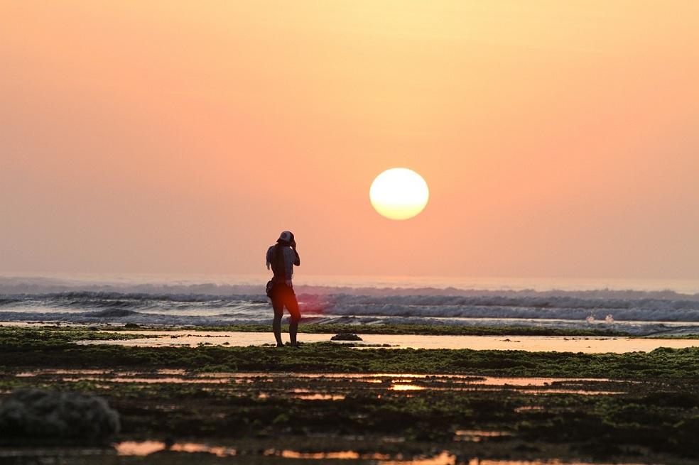 Sunset View From Plengkung Beach