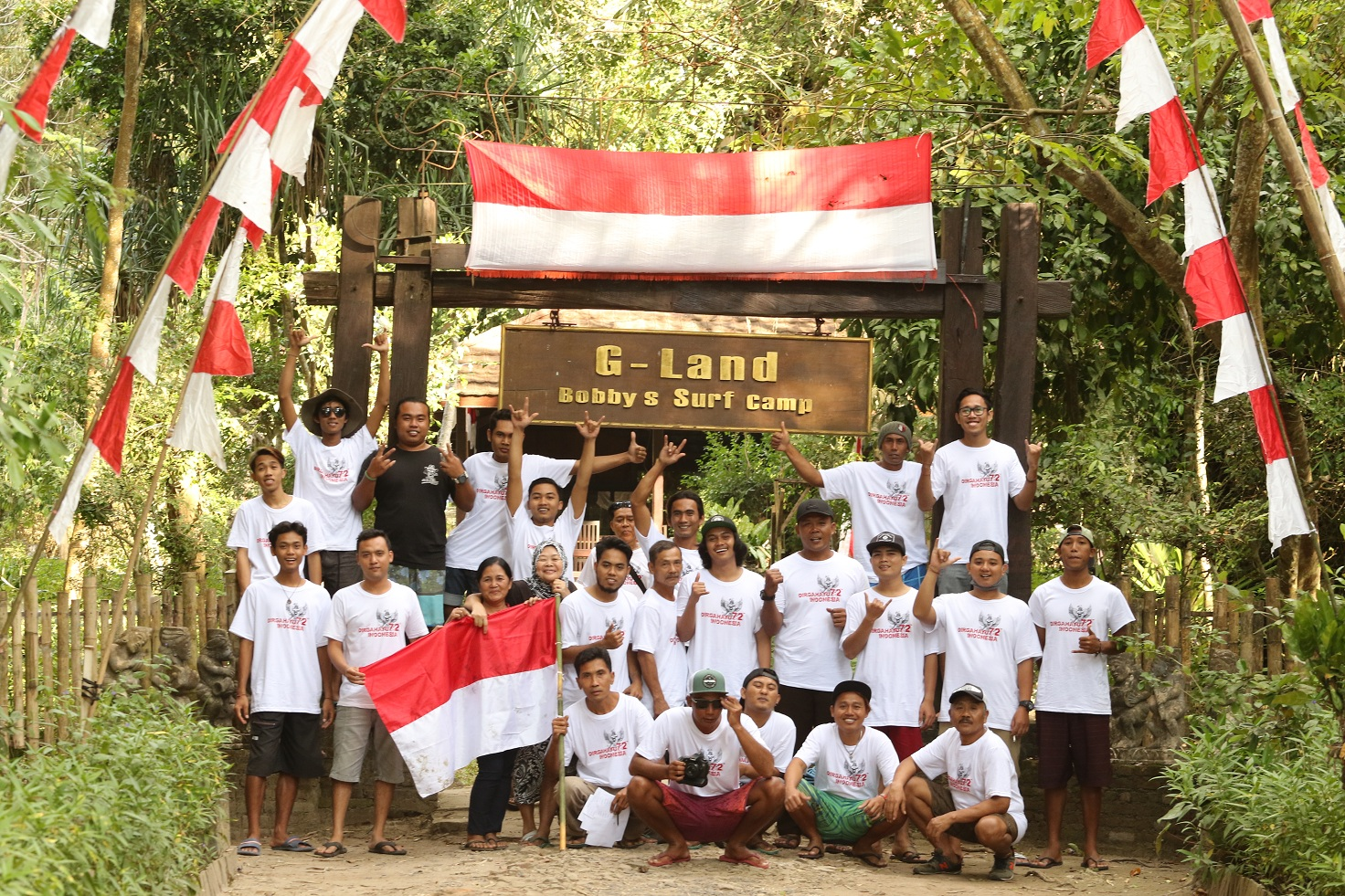 Indonesian Independence Day 2017 at G-land