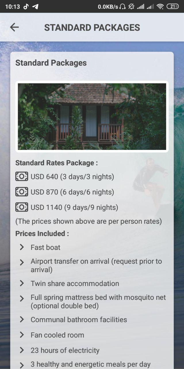 G-Land Mobile APP - Package Detail