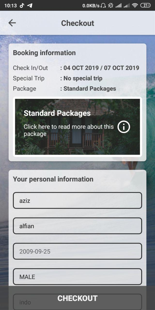 G-Land Mobile APP - Reservation